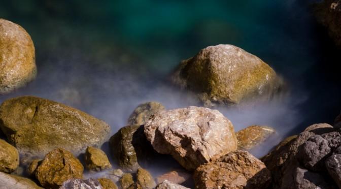 Mit Graufilter / Neutraldichtefilter am Meer