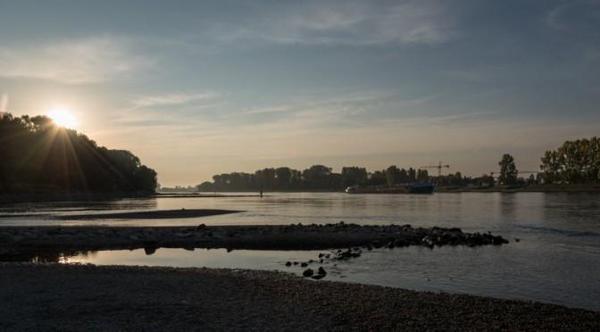 Rhein fotografieren am frühen morgen