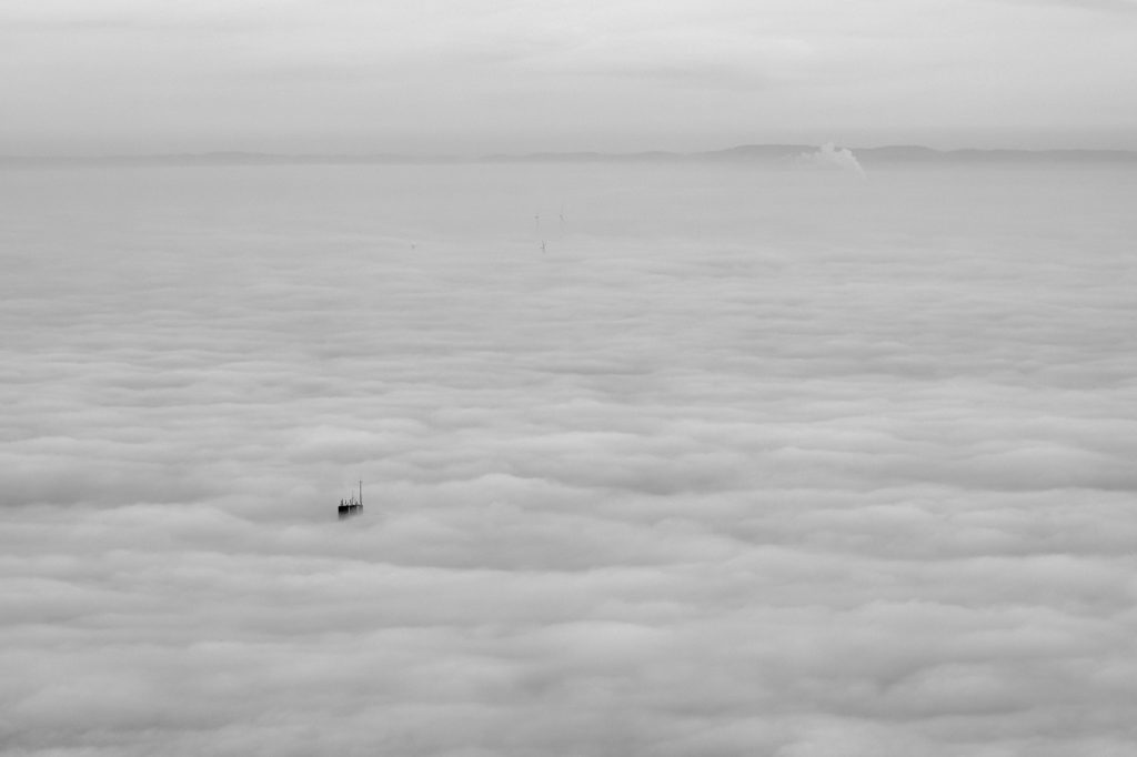 Wolkendecke über der Rheinebene